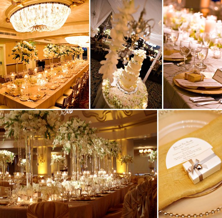 wedding ideas gold and white color combo white and gold absolutely fabulous weddings 28203
